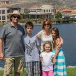Juan Jeanneret, Silvia Torres junto a sus hijos Matías, Dominique y Colomba