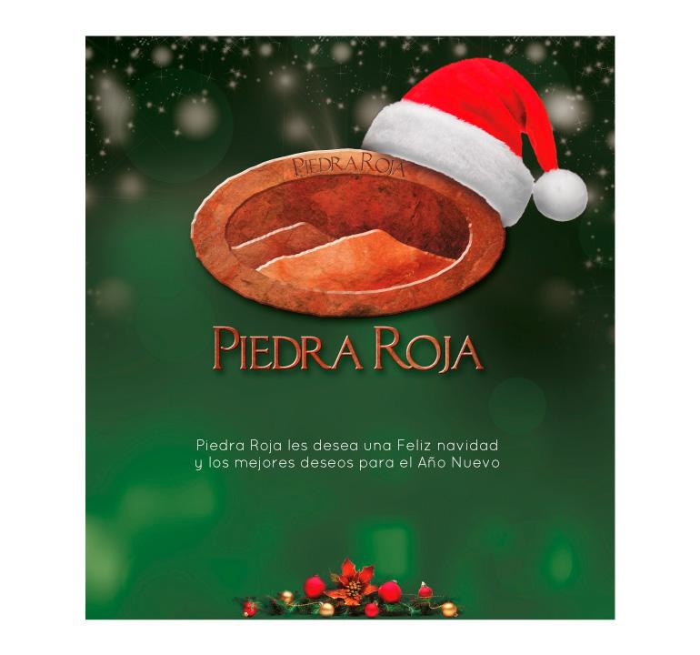 Saludo navidad Piedra Roja