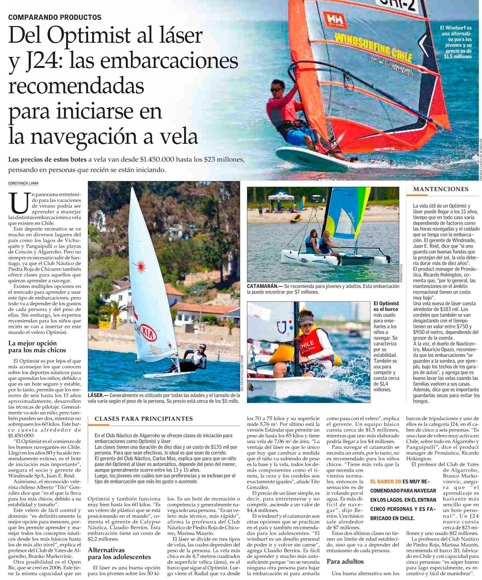 Deportes en Piedra Roja, El Mercurio